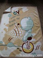 Cute printed baby blanket