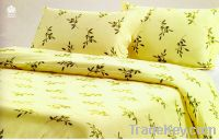 Printed cotton fitted sheet