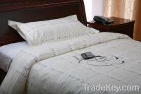 Plain 100% cotton bed set