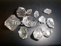Good quality rough diamonds from the mine, sizes of the stone is 5-18cts, clarity vvs1, vvs2, vs1, vs2, color d, e, f, g, h, i.