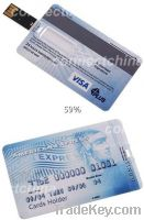 Sell OEM promotional credit card USB flash drives sticks, Business