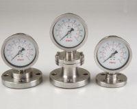 Diaphragm pressure gauge - Flange type