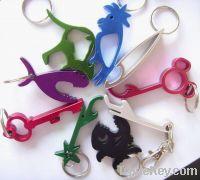 keychain bottle opener, can opener, crokscrew