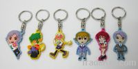 rubber keychain, keyring