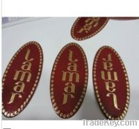 Sell soft stannum embossed label, fragrance bottle label, pewter label