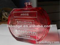 Sell metal bottle sticker, electroform sticker, perfume label, bottle