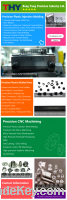 Precision Plastic Injection Molding, Molded Parts, CNC Machining