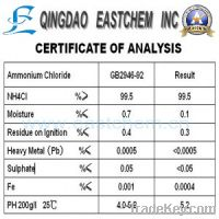 Sell ammonium chloride industrial grade