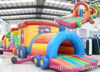 Sell inflatable obstacles, long huge combo