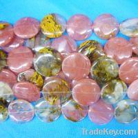 Sell Fire cherry quart gemstone bead