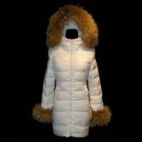 Mon-cler Down Fashion White Fur Cap Women Coats