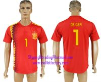 2018 WORLD CUP Spain home aaa version any name FOOTBALL JERSEY