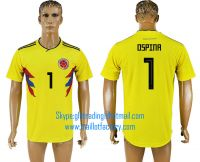 2018 WORLD CUP Columbia home aaa version any name FOOTBALL JERSEY