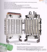 plastic injection preform mould for bottles