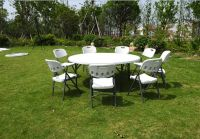 Plastic folding table and chair for wedding campping party