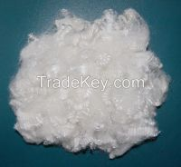 virgin and recycled hollow conjugated siliconized polyester staple fiber