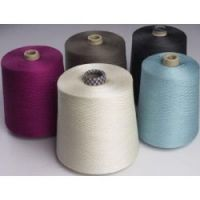 raw white and dyed  worsted  merino wool spun yarn  for knitting and weaving