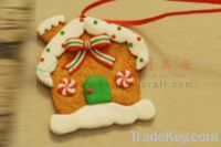 Sell polymer clay ornaments for christmas house.