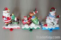 Sell polymer  decoration for Christmas socks hanging rack
