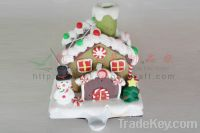 Sell polymer  decoration for Christmas house.