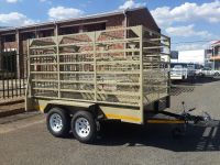 DOUBLE AXLE CATTLE TRAILER FOR SALE