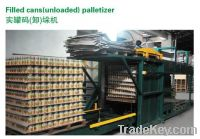 Automatic palletizer / depalletizer for  food and beverage filled cans