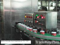 Automatic plastic cover/lids capping machine on tin/paper cans
