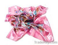Professional custom printed pure silk scarf