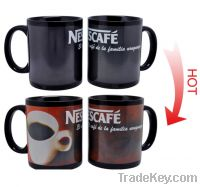 Sell 11oz FDA approved partial color changing ceramic mug