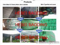 Sell sunshade net flat wire shade net round wire sunshade net