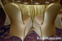 Sell gold nylon chair covers for wedding