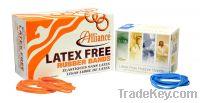 Ligas libre de latex y con proteccion antimicrobio