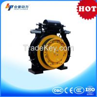 WTD1 630kg Drum Brake Sheave Diameter of 400mm roping 2:1 passenger elevator traction machine