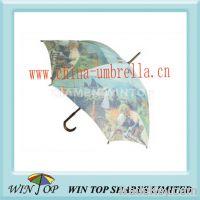 "Sell 23"" heat transfer printing wooden umbrella"