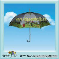 "Sell 23"" auto straight heat transfer printing umbrella"
