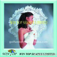 Sell White lace wedding bride umbrella
