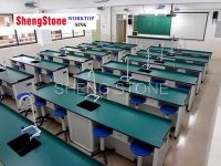 School lab phenolic worktop, double side corrosion resistant physical and chemical board