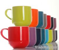 Sell colorful ceramic coffee cups 400ml