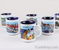 Sell ceramic coffee mugs with city scenery