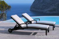 Sell rattan chaise lounge:ESR-11061
