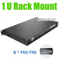 ip pbx kit 1U Rack Mount voip server , 8 FXO ports, Asterisk/Elastix PBX, 1U IP PBX phone system