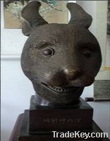 Sell bronze antique imitation: Rabbit's Head