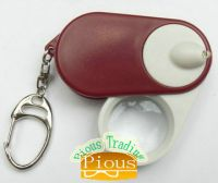 Sell LED Flashlight with magnifier and keychain