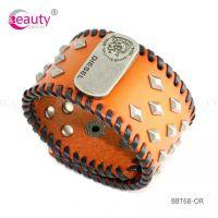 Punk Style Colourful PU Man-made Leather Bracelet Item ID #BBT68