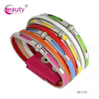 Punk Style Colourful PU Man-made Leather Bracelet