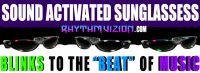 NEW INVENTION!!! Rhythm Vizion Sound Activated Sunglasses