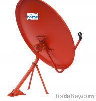Sell 90cm Offset Satellite Dish Antenna with Wind Tunnel