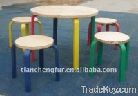 Sell birch bent wood table and stool