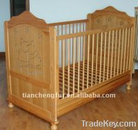 Sell Popular solid pine wood baby crib