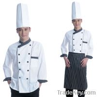 (Free shipping) Wholesale price chef uniform / chef coat and pant